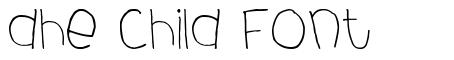 Dhe Child Font font