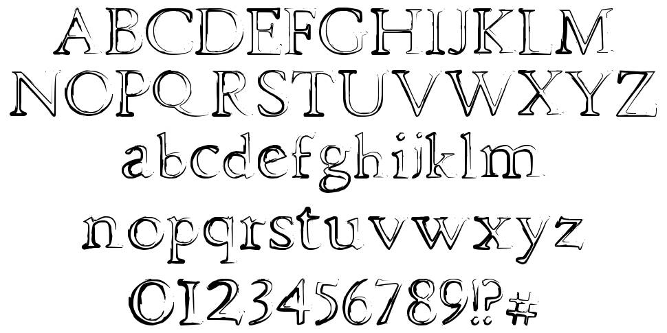 Dhe Mysterious font