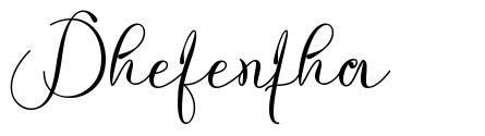 Dhefentha font