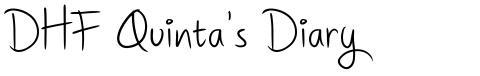 DHF Quinta's Diary