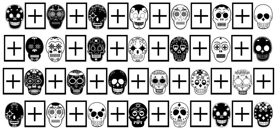 Dia de los Muertos schriftart