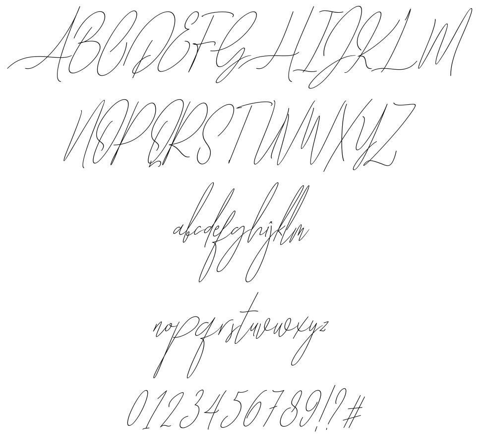 Diamante Signature font