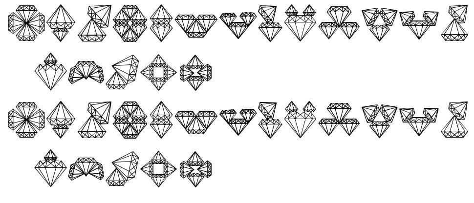 Diamond Blocks font