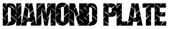 Diamond Plate font