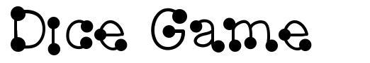 Dice Game font