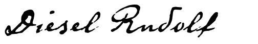 Diesel Rudolf font