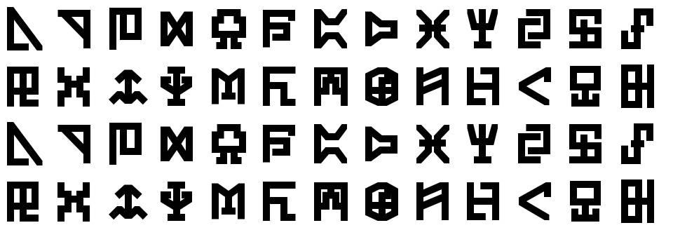Digicode písmo