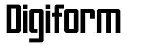 Digiform font