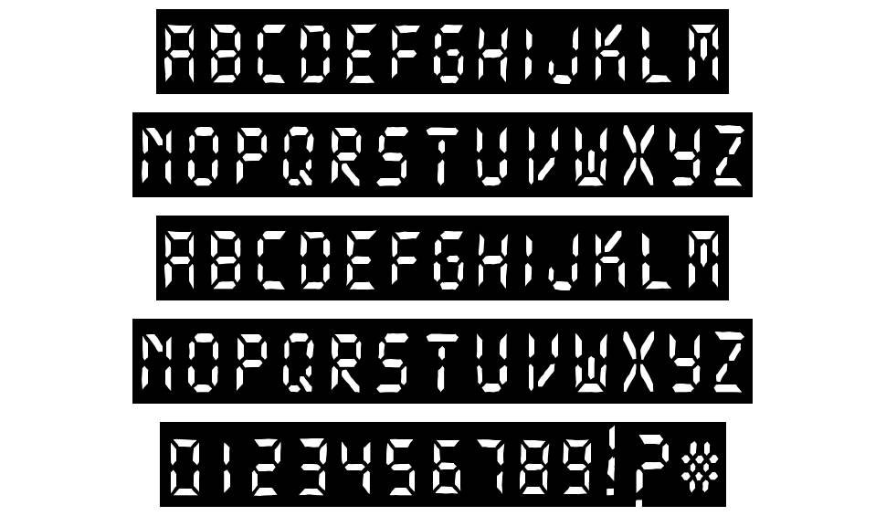 Digital Dark System font