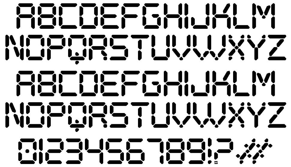 Digital Play St font