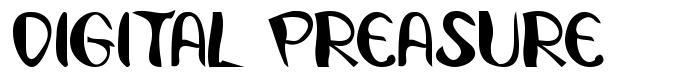 Digital Preasure font