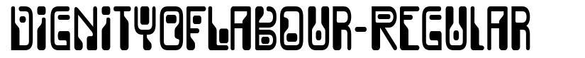 DignityOfLabour-Regular font