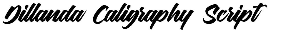 Dillanda Caligraphy Script font
