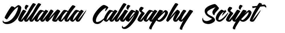 Dillanda Caligraphy Script