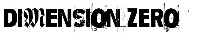 Dimension Zero font