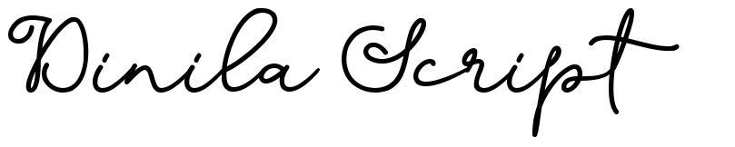 Dinila Script font