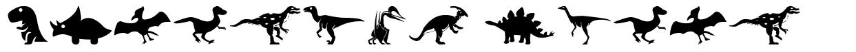 Dinosaur Icons шрифт