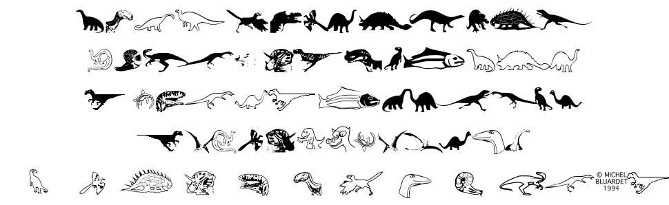 DinosoType フォント
