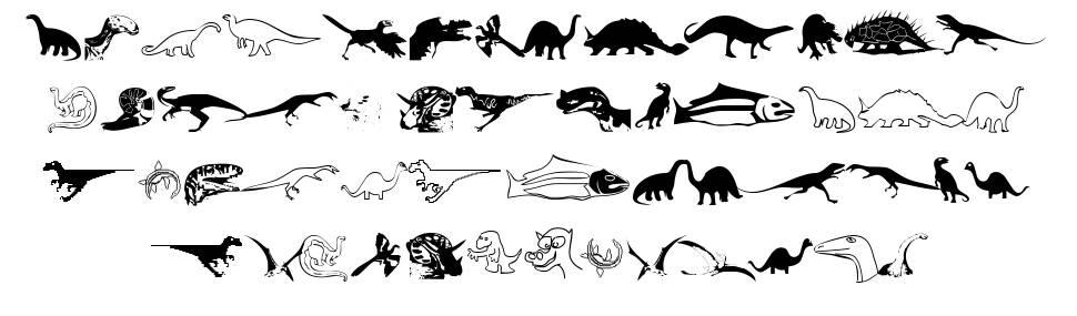 DinosoType fonte