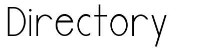 Directory font