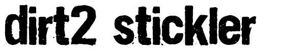 Dirt2 Stickler font