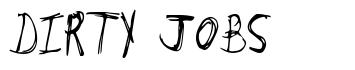 Dirty Jobs font