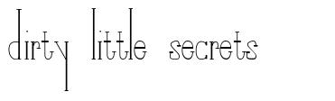 Dirty Little Secrets font