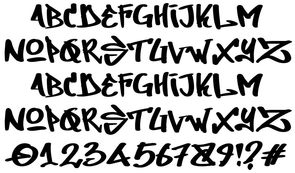 Dirty lizard font