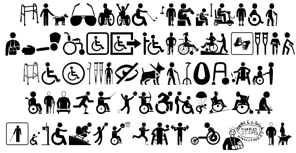 Disabled Icons font
