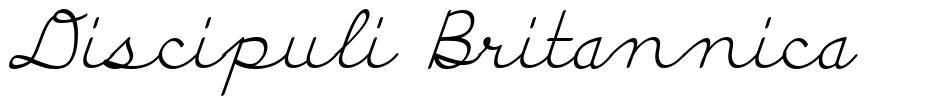 Discipuli Britannica 字形