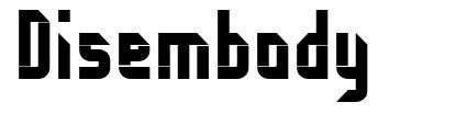 Disembody font