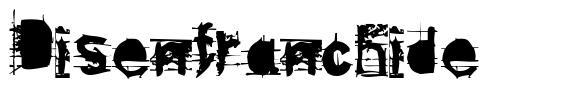 Disenfranchide font