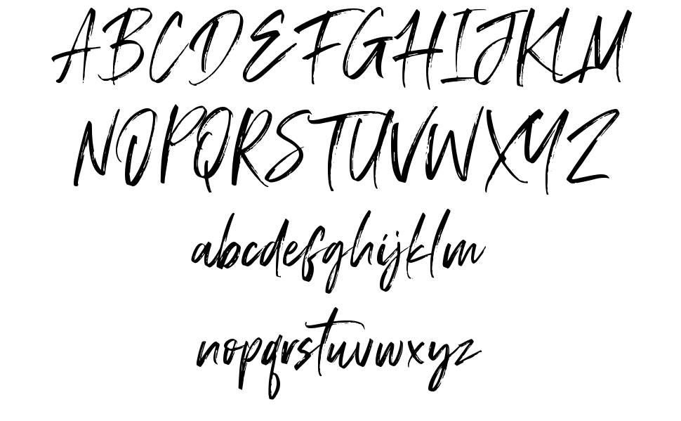 Displatter font