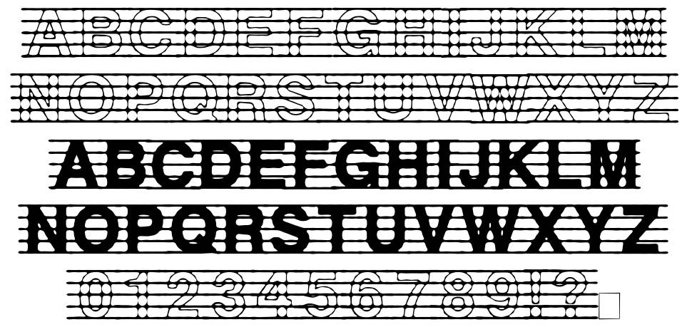 Distracted Musician font