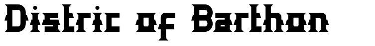 Distric of Barthon フォント