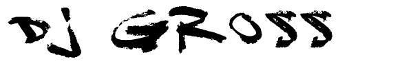 DJ Gross 字形