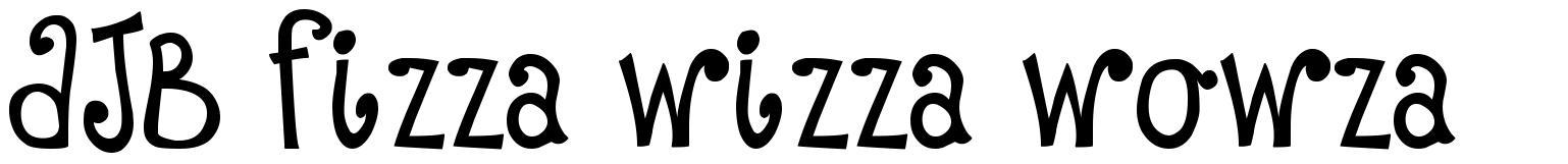 DJB Fizza Wizza Wowza schriftart