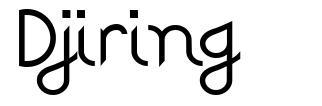 Djiring font