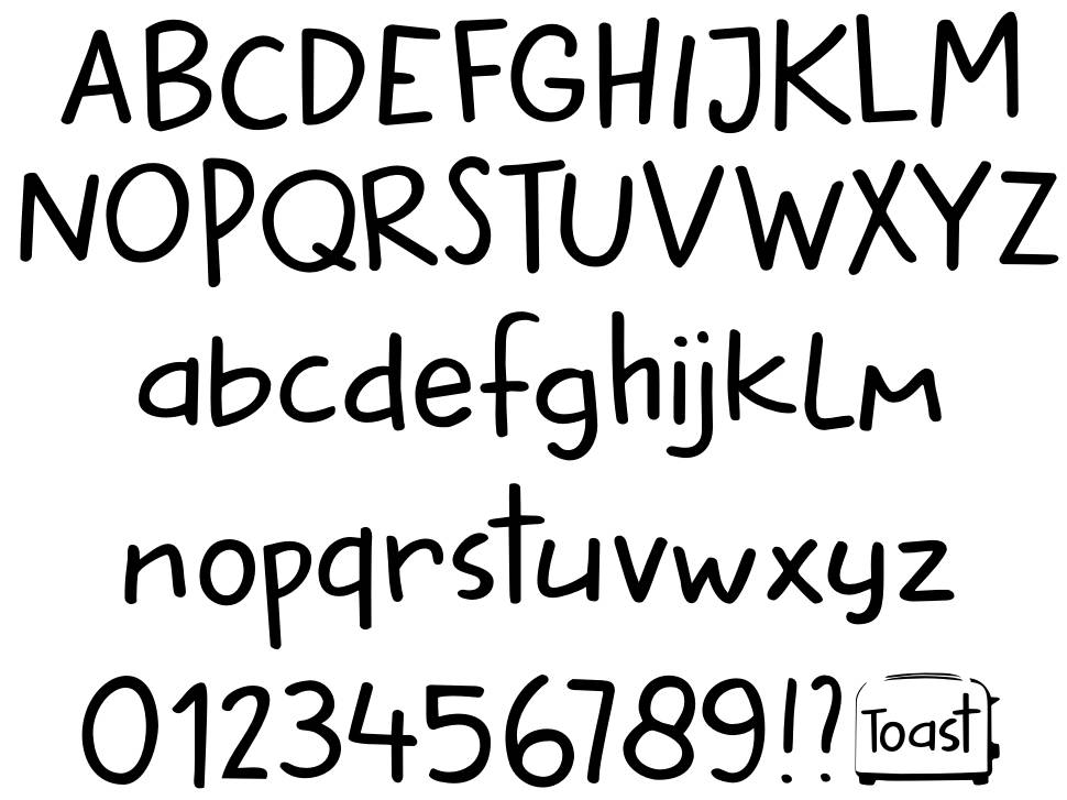 DK Buttered Toast font