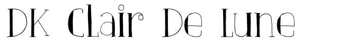 DK Clair De Lune font