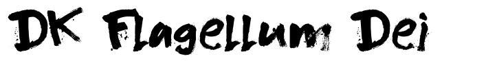 DK Flagellum Dei шрифт
