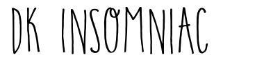 DK Insomniac font