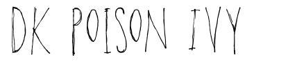DK Poison Ivy font