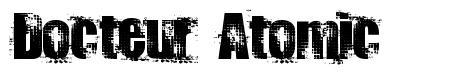 Docteur Atomic шрифт