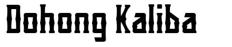 Dohong Kaliba czcionkę