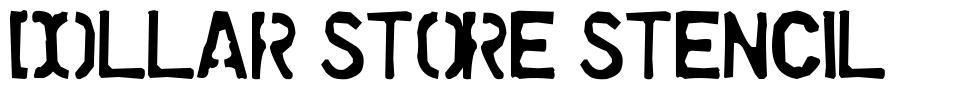 Dollar Store Stencil font