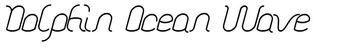 Dolphin Ocean Wave font