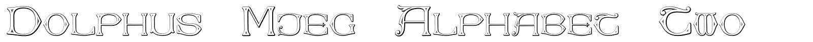 Dolphus-Mieg Alphabet Two
