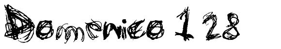 Domenico 128 font