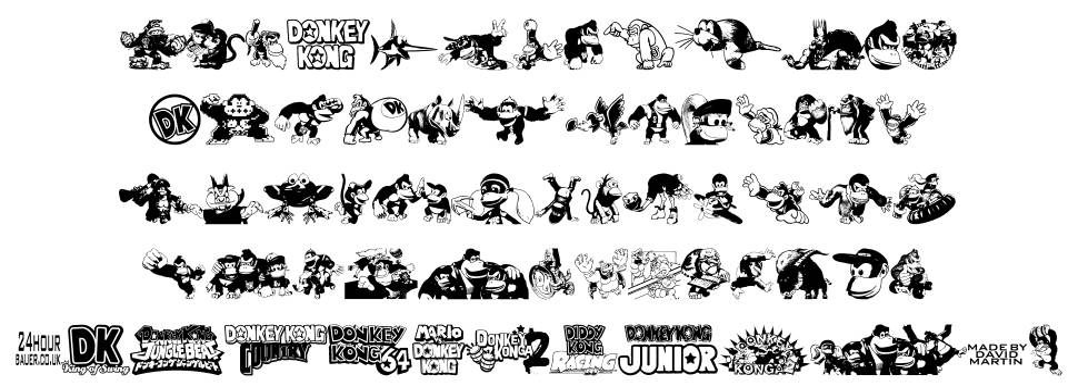 Donkey Kong World 字形